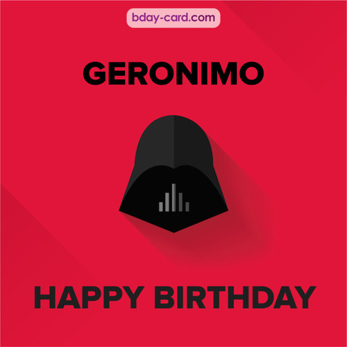 Happy Birthday pictures for Geronimo with Darth Vader