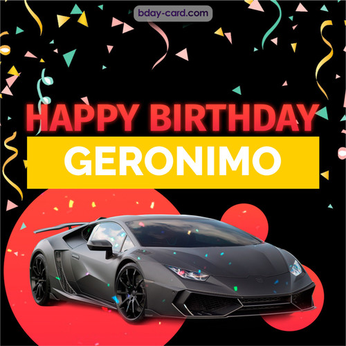 Bday pictures for Geronimo with Lamborghini