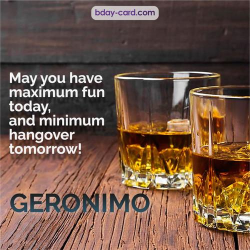 Greetings pics for Geronimo with Whiskey