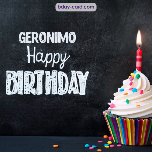 Happy Birthday images for Geronimo with Cupcake