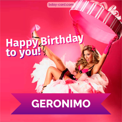 Birthday images for Geronimo with lady