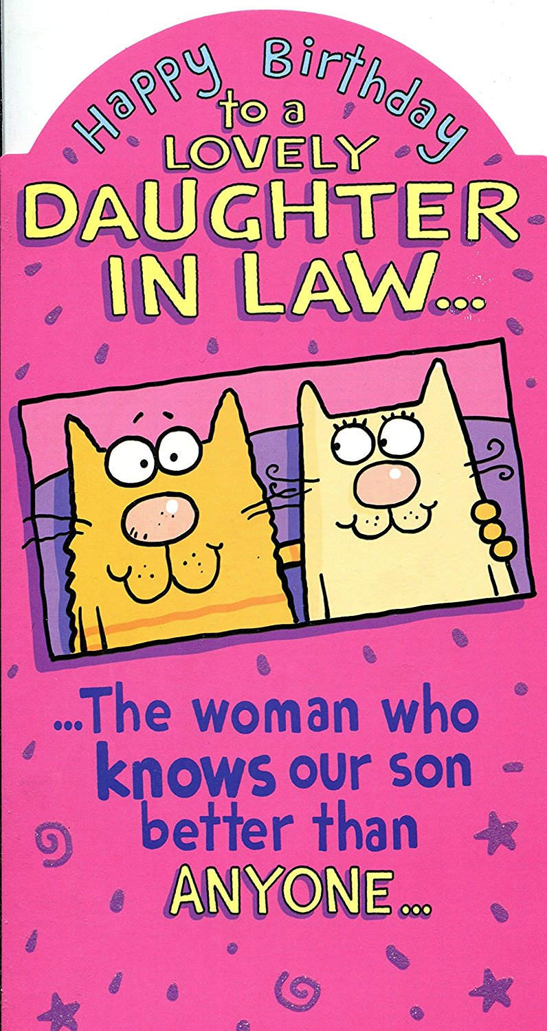 Happy Birday Daughter In Law Greetings Card