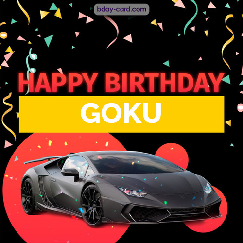 Bday pictures for Goku with Lamborghini