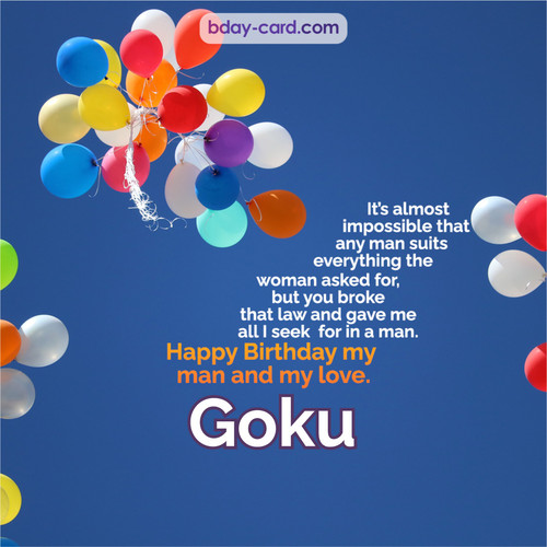 Birthday images for Goku with Balls