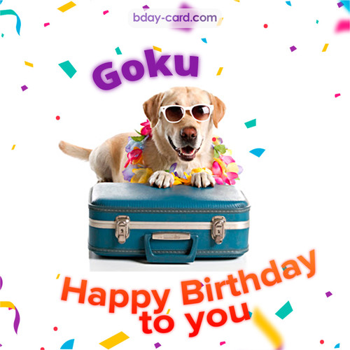 Funny Birthday pictures for Goku
