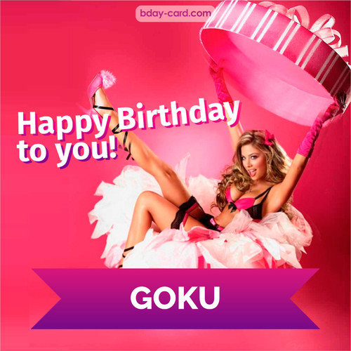 Birthday images for Goku with lady