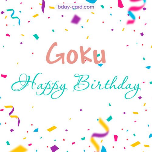 Greetings pics for Goku with sweets