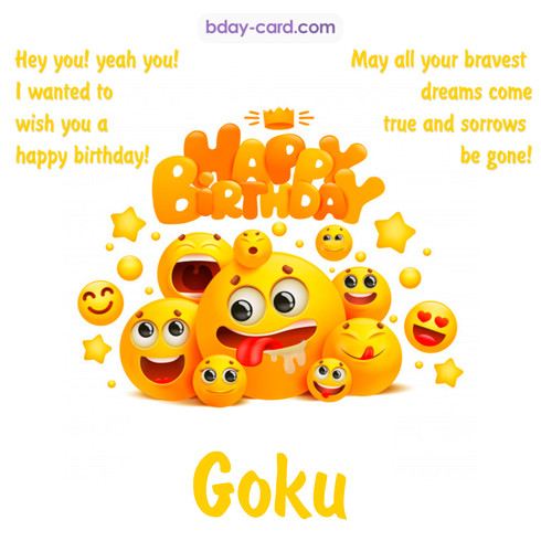 Happy Birthday images for Goku with Emoticons
