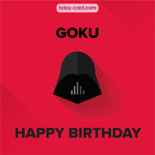 Happy Birthday pictures for Goku with Darth Vader