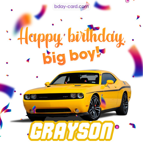 Happiest birthday for Grayson with Dodge Charger
