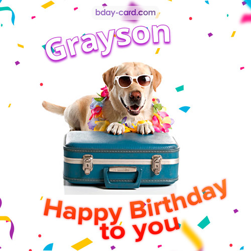 Greetings pics for Grayson with Balloons