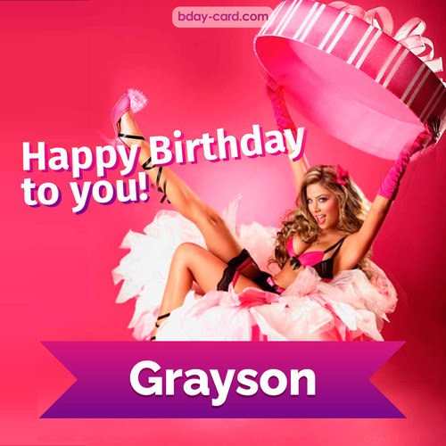 Birthday images for Grayson with lady