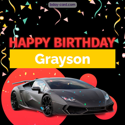 Bday pictures for Grayson with Lamborghini