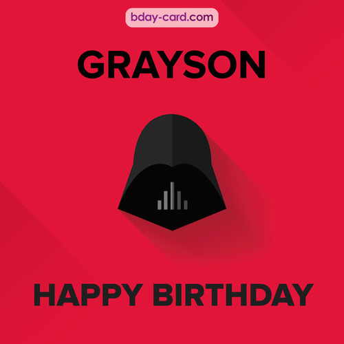 Happy Birthday pictures for Grayson with Darth Vader