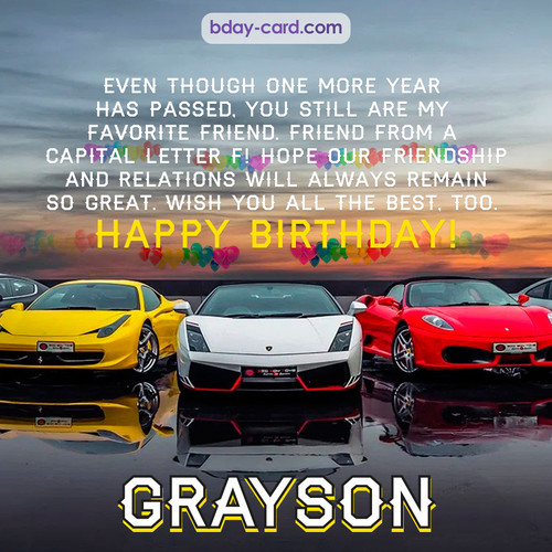 Birthday pics for Grayson with Sports cars
