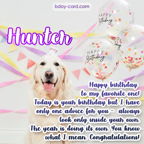 Happy Birthday pics for Hunter with Dog