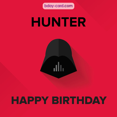 Happy Birthday pictures for Hunter with Darth Vader