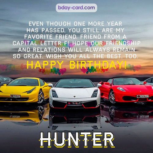 Birthday pics for Hunter with Sports cars