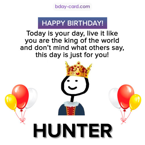 Happy Birthday Meme for Hunter