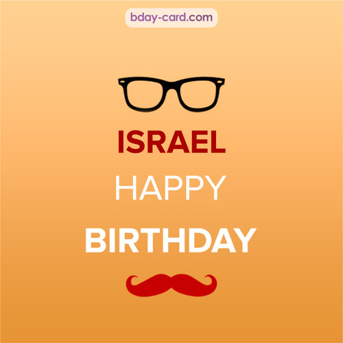 Happy Birthday photos for Israel with antennae