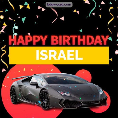 Bday pictures for Israel with Lamborghini