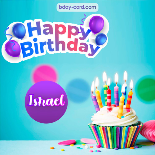 Birthday photos for Israel with Cupcake