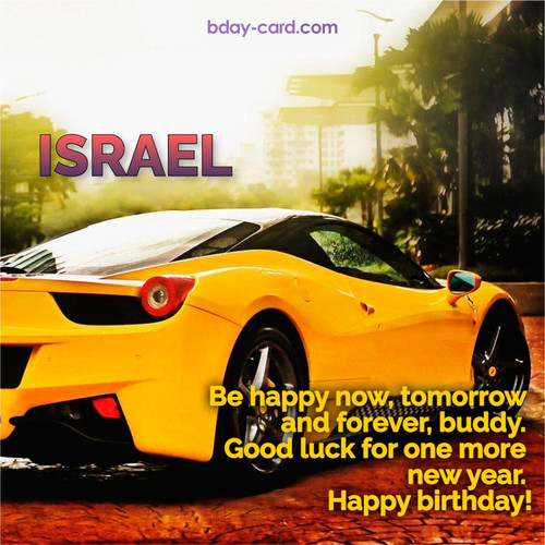 Birthday photos for Israel with Wheelbarrow