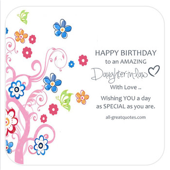 Happy Birthday Daughter In Law Images