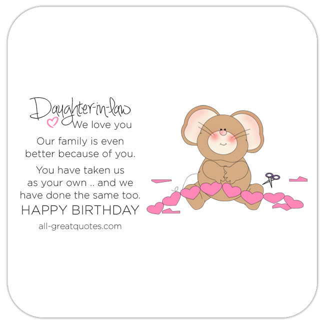 Fantastic Happy Birthday Daughter In Law Images Free Bday Cards And Funny Birthday Cards Online Elaedamsfinfo