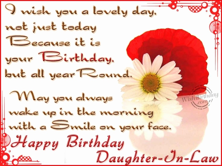 Happy Birthday Daughter in Law Images💐 - Free bday cards