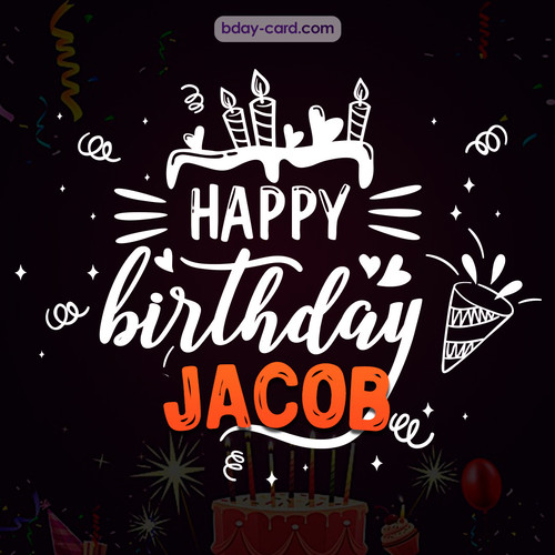 Black Happy Birthday cards for Jacob
