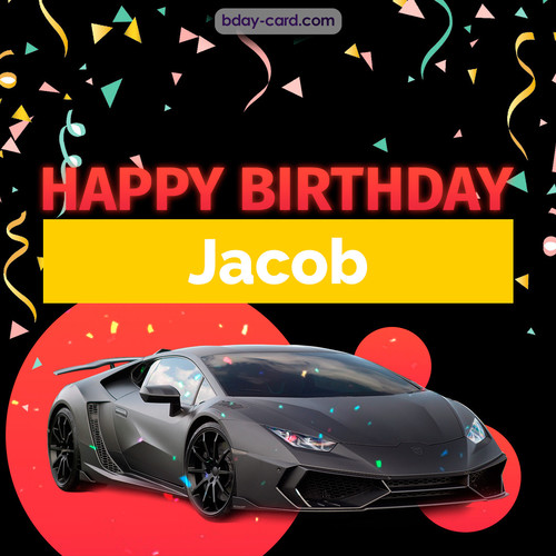 Bday pictures for Jacob with Lamborghini