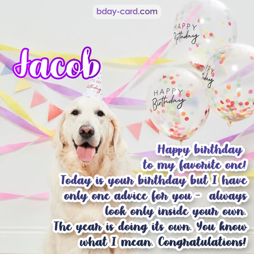 Happy Birthday pics for Jacob with Dog