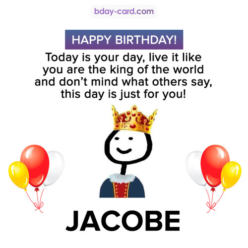 Happy Birthday Meme for Jacobe