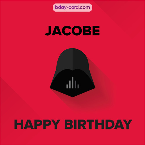 Happy Birthday pictures for Jacobe with Darth Vader