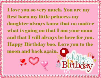 Moer to Daughter Birday Wishes Happy Birday Wishes