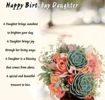 Beautiful Flowers Happy Birday Daughter Wishes E Card
