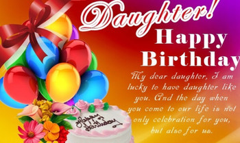 Happy Birday Daughter Wishes Cake Images Messages Quotes