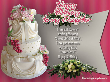 Birday Wishes for Daughter Wordings and Messages