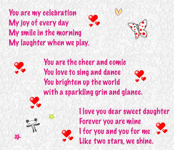 Happy Birday Poems for Daughter from Mom and Dad Happy