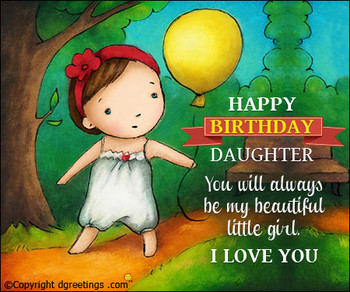 Birday Messages for Daughter Wishes and SMS Dgreetings