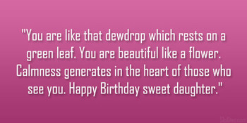 Loving Daughter Birday Quotes