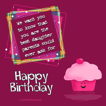 Birday Wishes for Daughter from Dad Cards Wishes