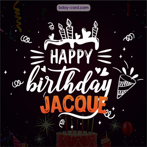Black Happy Birthday cards for Jacque