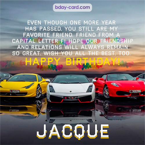 Birthday pics for Jacque with Sports cars