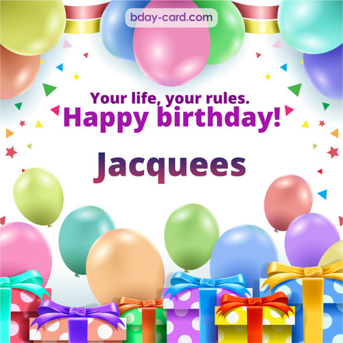 Greetings pics for Jacquees with Balloons