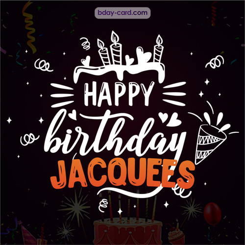 Black Happy Birthday cards for Jacquees