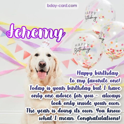 Happy Birthday pics for Jeremy with Dog