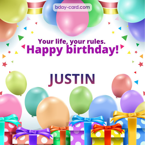 Funny Birthday pictures for Justin