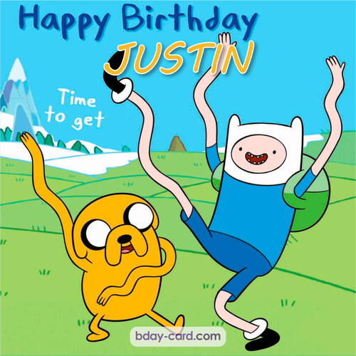 Birthday images for Justin of Adventure time